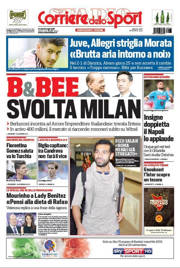 Corriere 30 - 07 - 2015