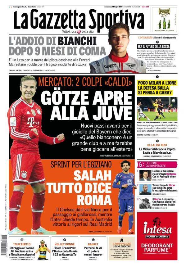 Gazzetta 19-07-2015