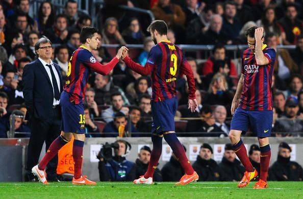 Gerard+Pique+Marc+Bartra+FC+Barcelona+v+Club+2JZRD3cso7Ml