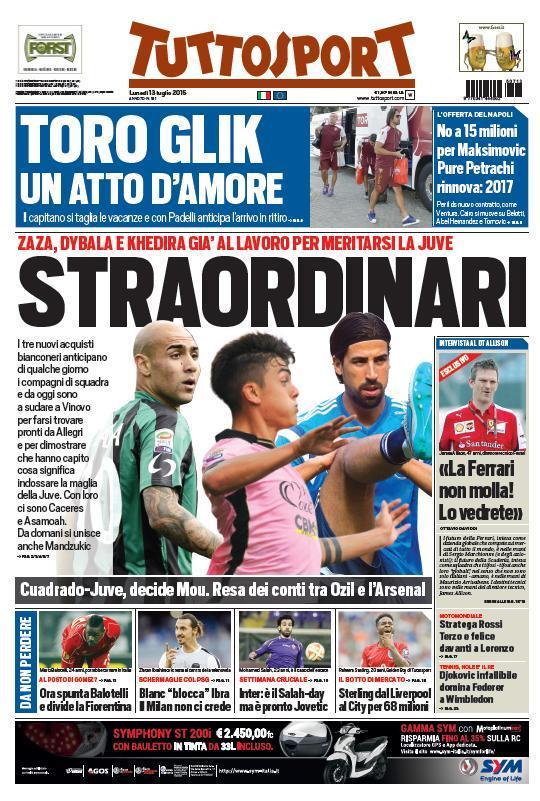 Tuttosport 13-07-2015
