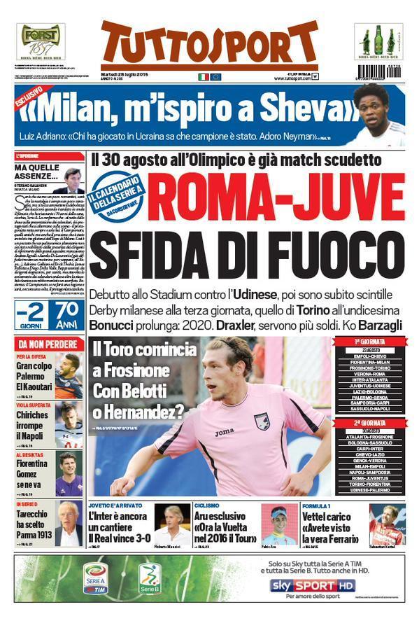 Tuttosport 28-07-2015