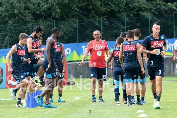 Sarri Napoli Dimaro2015 allenamento hamsik zapata albiol jorginho