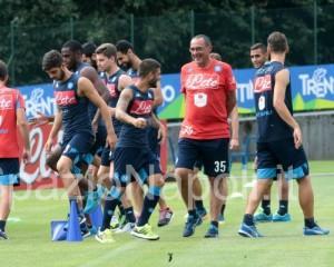 Sarri Napoli insigne ghoulam romano squadra allenamento jorginho Dimaro2015