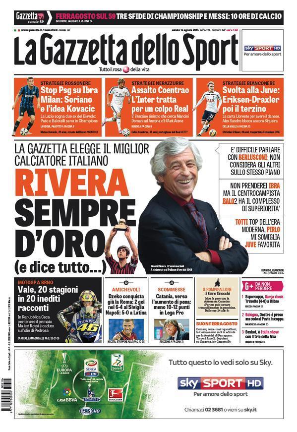 Gazzetta 15-08-2015
