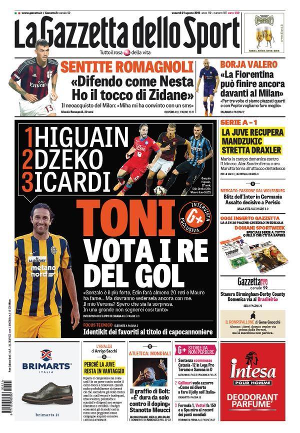 Gazzetta 21-08-2015