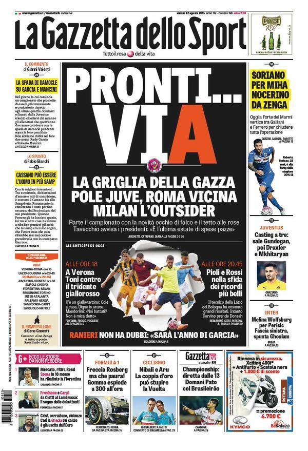 Gazzetta 22-08-2015