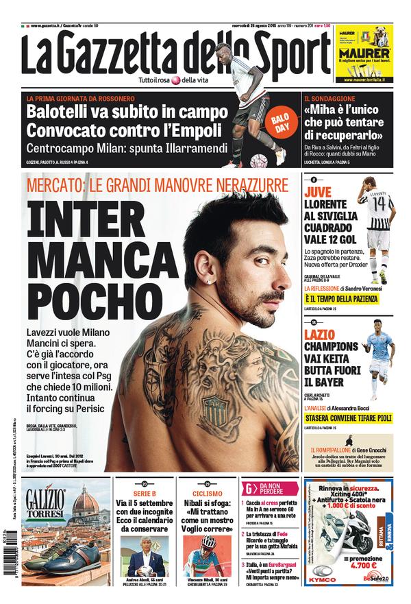 Gazzetta 26-08-2015
