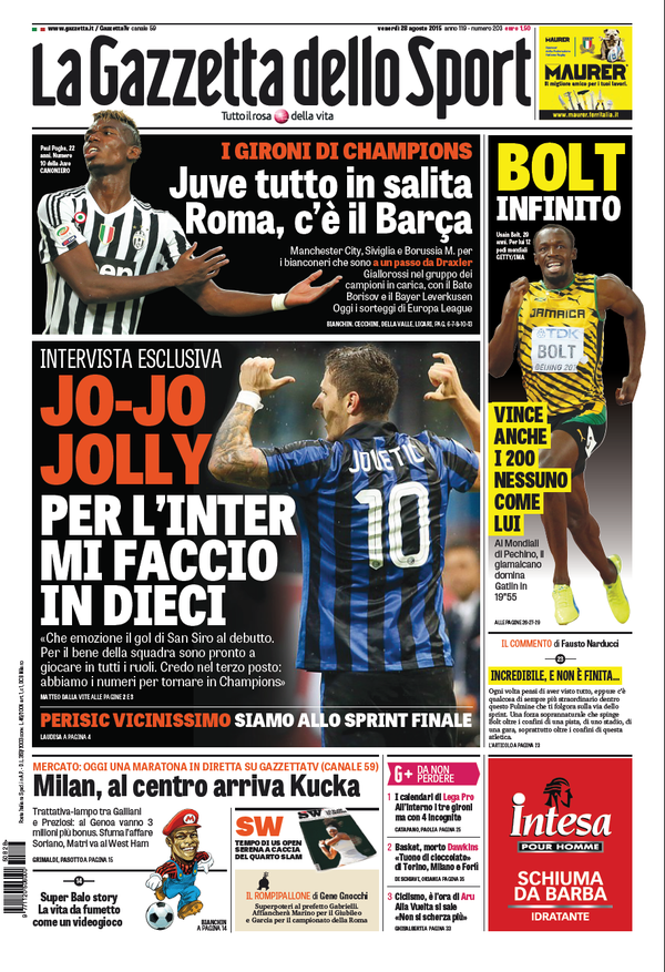 Gazzetta 28-08-2015