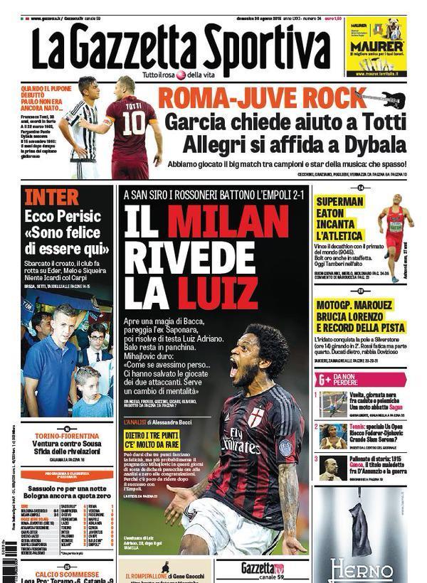 Gazzetta 30-08-2015
