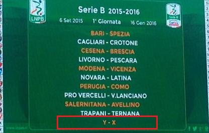 1° giornata serie B 2015-2016
