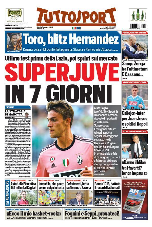 Tuttosport 01-08-2015