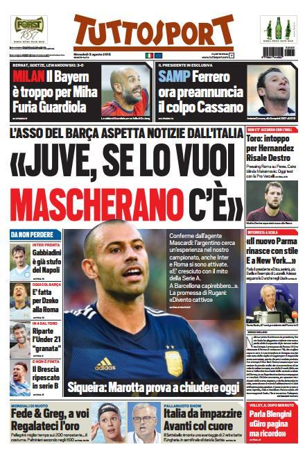 Tuttosport 05-08-2015