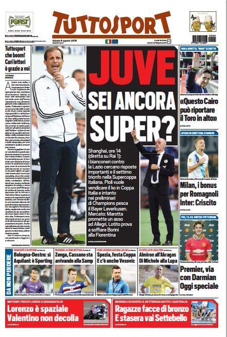 Tuttosport 08-08-2015