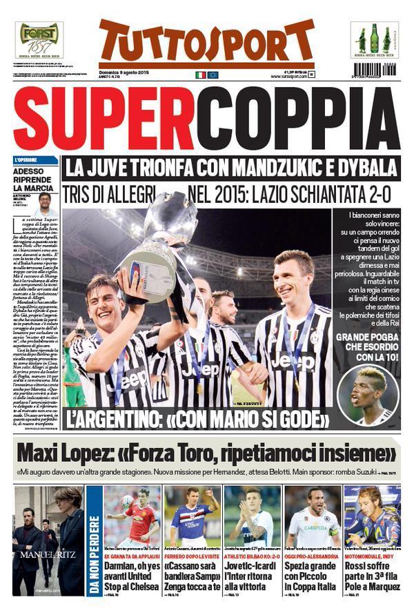 Tuttosport 09-08-2015