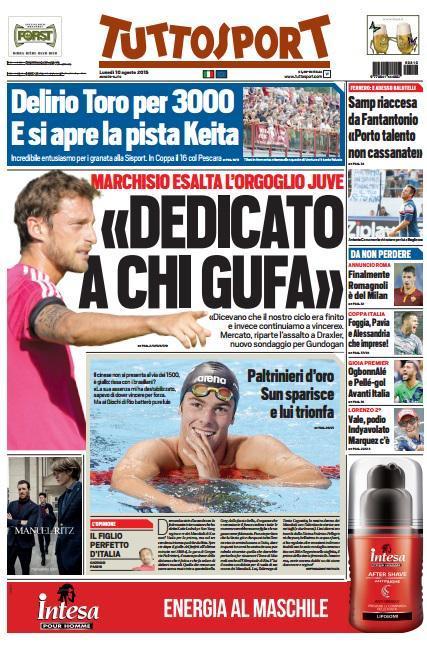 Tuttosport 10-08-2015