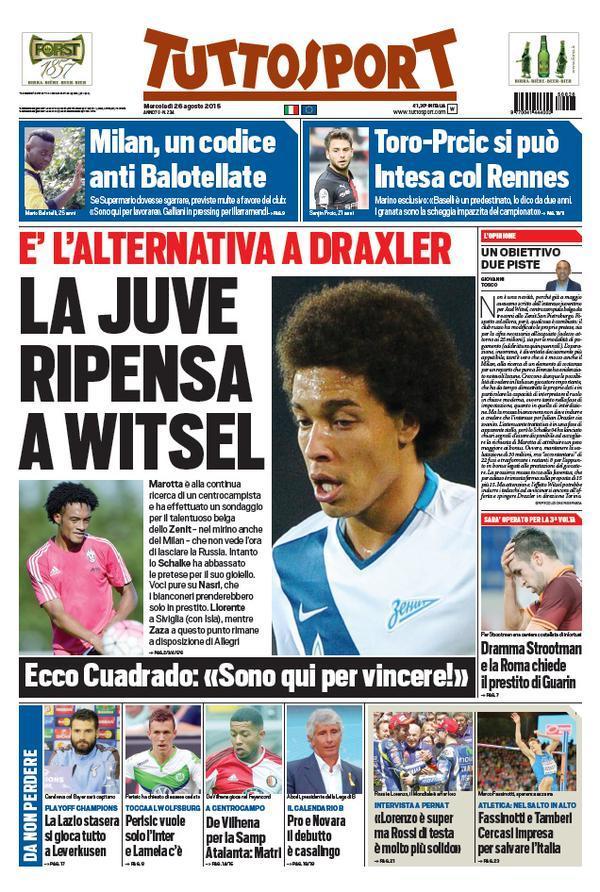 Tuttosport 26-08-2015