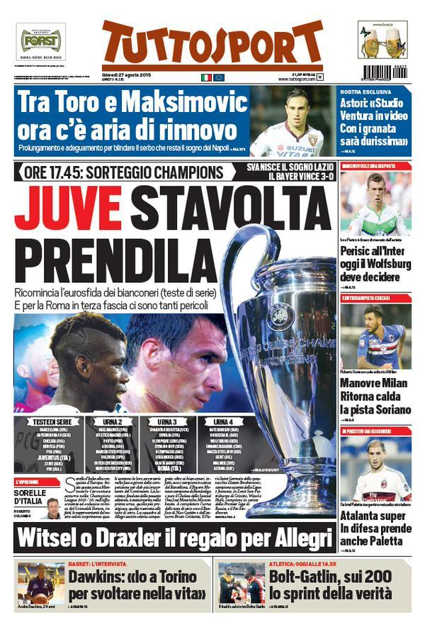 Tuttosport 27-08-2015