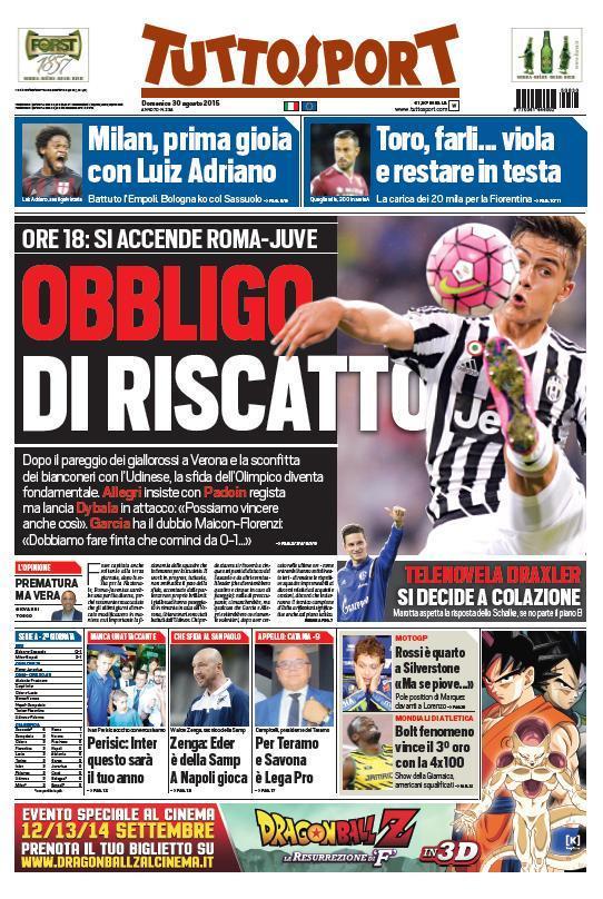 Tuttosport 30-08-2015