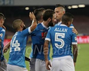 Napoli Sampdoria Gol higuain allan insigne maggio hamsik