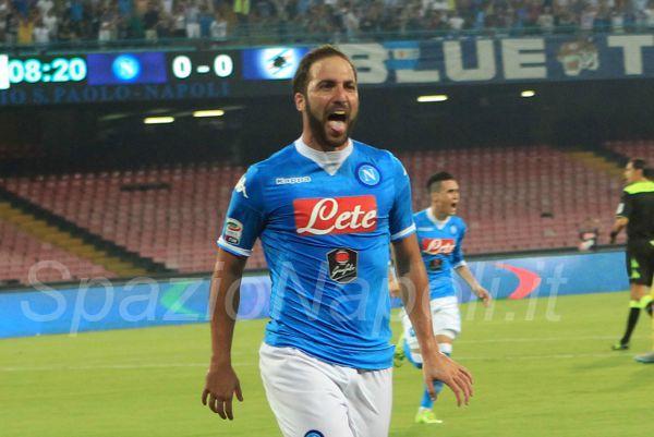 Higuain Napoli Sampdoria