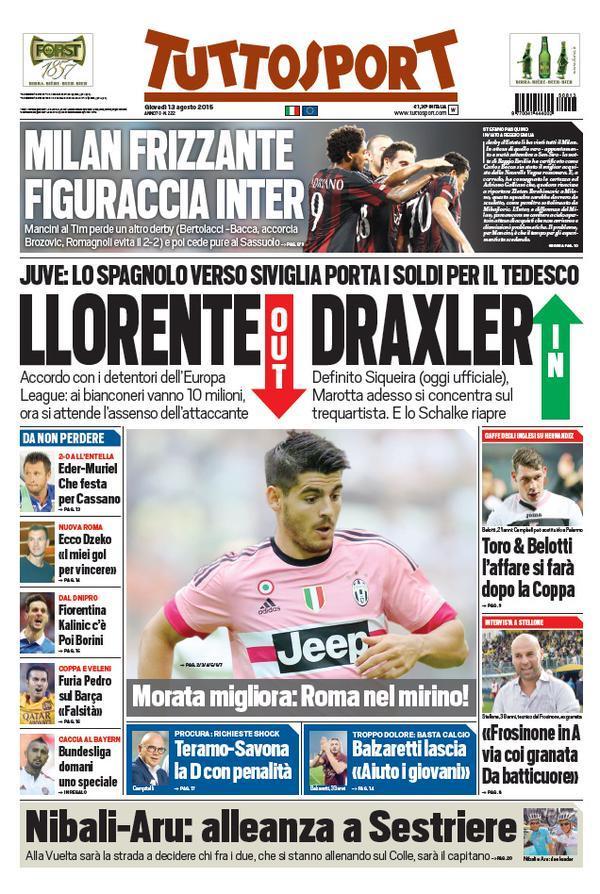 tuttosport 13-08-2015