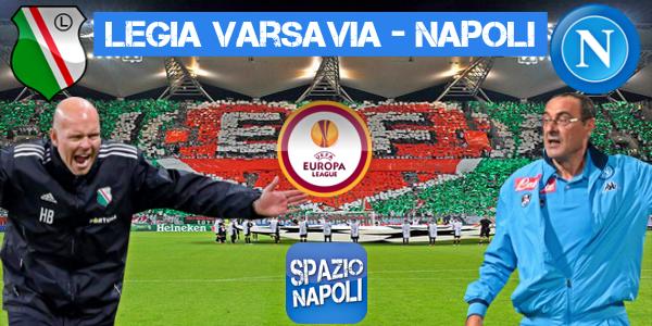 Copertina Legia Varsavia-Napoli