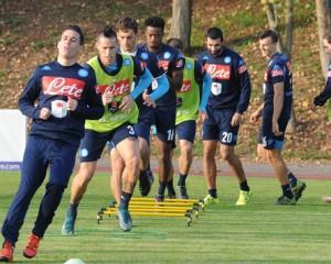 allenamento napoli Brescia