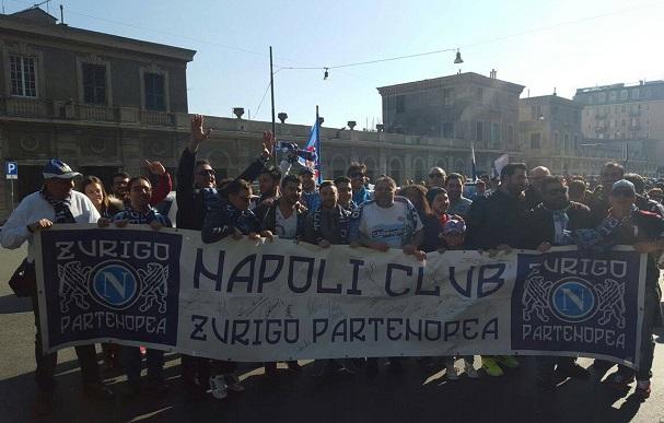 Tutto l'entusiasmo del Napoli Club Zurigo Partenopea