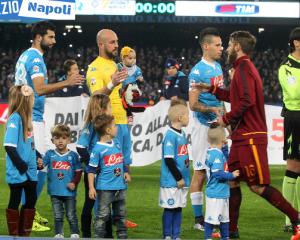Hamsik Reina Albiol banbini De Rossi gervasoni Napoli Roma