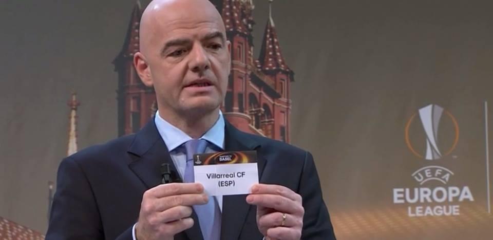 europa league infantino napoli sorteggio sedicesimi