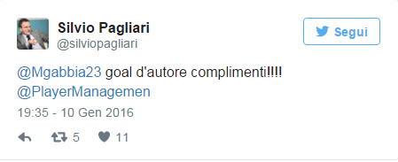 gabbiadini agente tweet