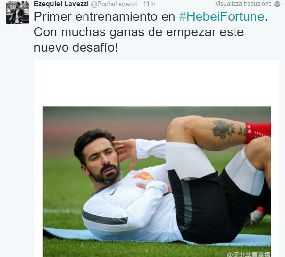 Lavezzi tweet