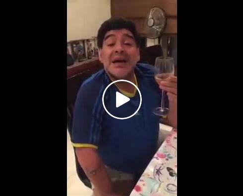 """VIDEO - Maradona fa gli auguri a Gigi D'Alessio: """"Siamo ..."""