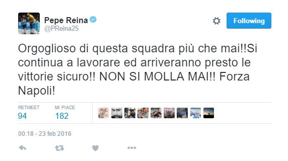 pepe reina tweet