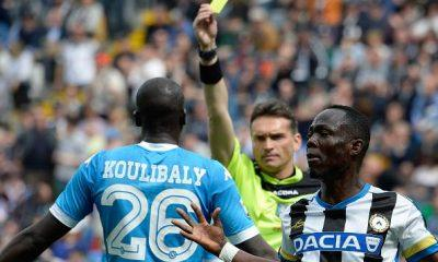 ammonizione arbitro Koulibaly