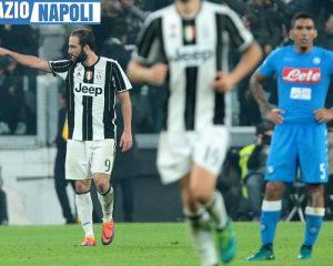 Istantanea successiva al goal di Higuain in Juventus. Il Napoli in trasferta palesa gravi amnesie