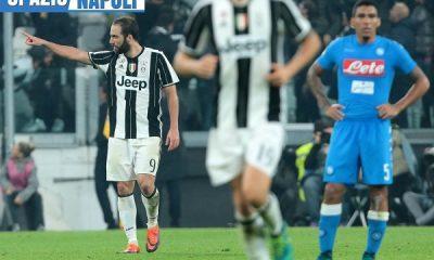 Istantanea successiva al goal di Higuain in Juventus-Napoli