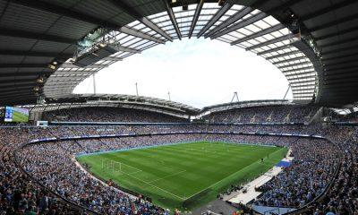General view of the Etihad Stadium before the Barclays Premier League match between Manchester City and Chelsea at the Etihad Stadium, Manchester on 16th August, 2015.