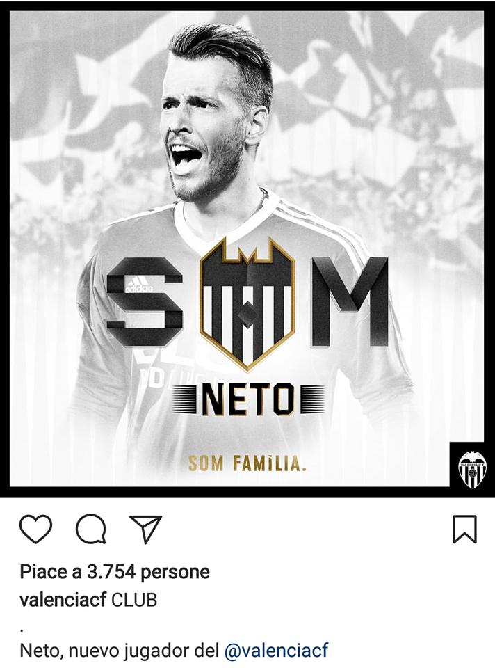 Neto, ex obiettivo Napoli: