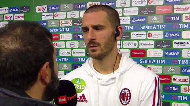 Bonucci: 'Milan, sbagliare ancora è mortale. Su Italia e Ventura...'