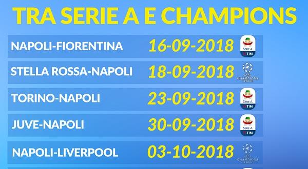 Calendario Juve E Napoli.Incrocio Calendario Champions E Campionato Nella Stessa