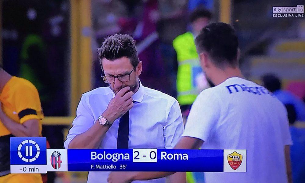 Roma, contestazione dei tifosi dopo il ko di Bologna. Pallotta: