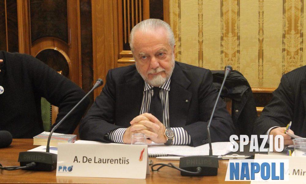De Laurentiis contro Agnelli,dal Napoli no alla Superchampions