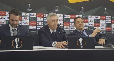 """Ancelotti in conferenza: """"Var in Europa League? Indispensabile! Mertens? Mi aspetto di più da lui"""""""