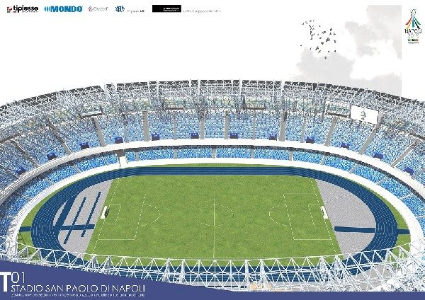 FOTO - Ottenuto l'effetto pixellato: ecco come sarà lo stadio San Paolo!