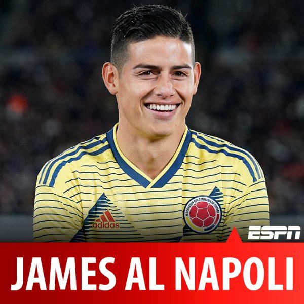 Il Mattino - James, il Napoli non molla il colombiano e si affida a Mendes