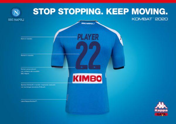 Kombat 2020, presentata la nuova maglia del Napoli