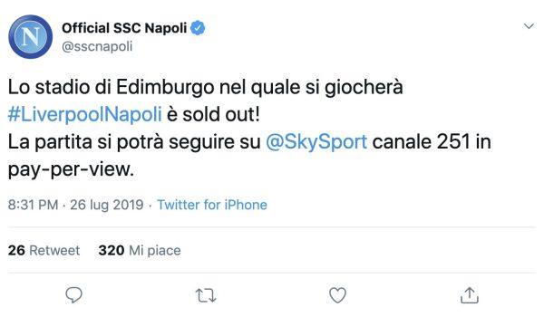 Dove vedere Liverpool-Napoli in tv e streaming