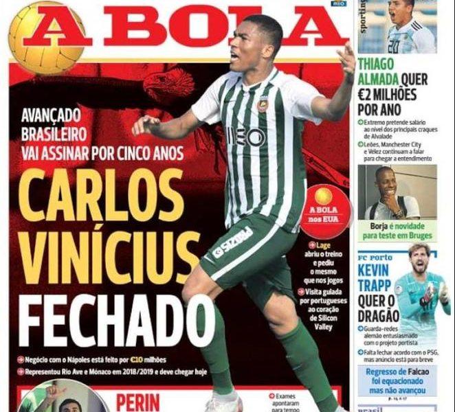 SKY - Vinicius, clausola 'mostruosa' al Benfica: l'ex Napoli costerà 100 milioni!