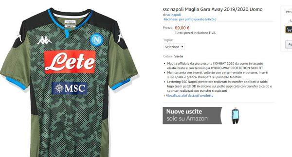 FOTO - Il Napoli lancia le nuove maglie su Amazon: la seconda è ...